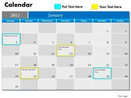 Blue Calendar 2011 PPT 1