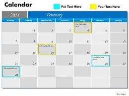 Blue Calendar 2011 PPT 2