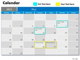 Blue Calendar 2011 PPT 5
