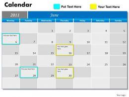 Blue Calendar 2011 PPT 6