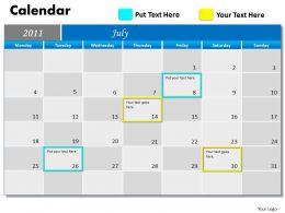 Blue Calendar 2011 PPT 7