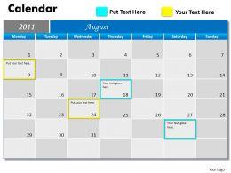 Blue Calendar 2011 PPT 8