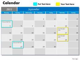 Blue Calendar 2011 PPT 9
