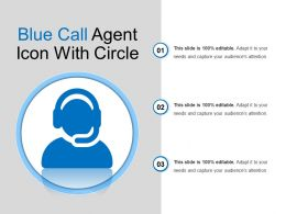 Blue Call Agent Icon With Circle