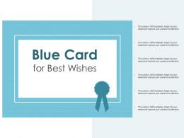 Blue Card For Best Wishes