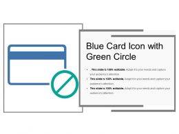 Blue Card Icon With Green Circle
