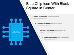 Blue Chip Icon With Black Square In Center