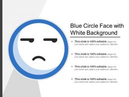 Blue Circle Face With White Background