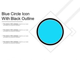 Blue Circle Icon With Black Outline