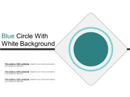 Blue Circle With White Background