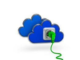 Blue Cloud Graphic Stock Photo