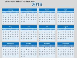 blue_color_calendar_for_year_2016_flat_powerpoint_design_Slide01