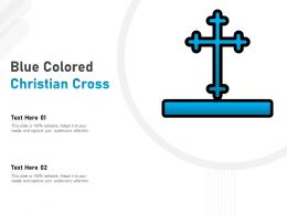 Blue Colored Christian Cross