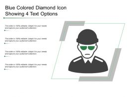 Blue Colored Diamond Icon Showing 4 Text Options
