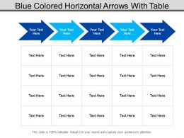 Blue Colored Horizontal Arrows With Table