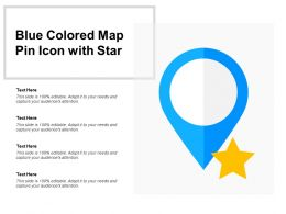 Blue Colored Map Pin Icon With Star