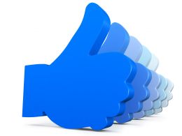 Blue Colored Multiple Likes Symbol Stock Photo