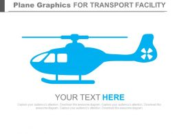 Blue Colored Plane Graphics For Transport Facility Powerpoint Slides