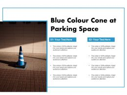 Blue Colour Cone At Parking Space
