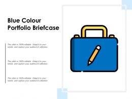 Blue Colour Portfolio Briefcase