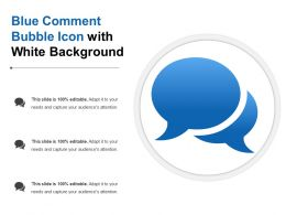 Blue Comment Bubble Icon With White Background