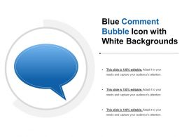 Blue Comment Bubble Icon With White Backgrounds