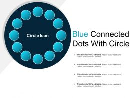 Blue Connected Dots With Circle