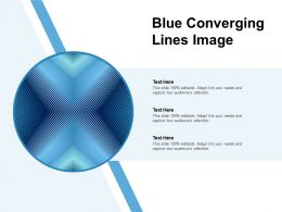 Blue Converging Lines Image