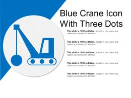 Blue Crane Icon With Three Dots