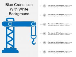 Blue Crane Icon With White Background