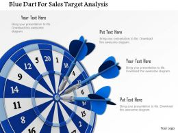 Blue Dart For Sales Target Analysis Image Graphics For Powerpoint