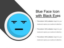 Blue Face Icon With Black Eyes