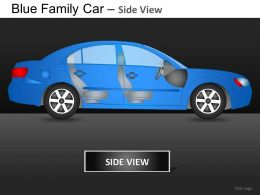 Blue Family Car Side View Powerpoint Presentation Slides DB