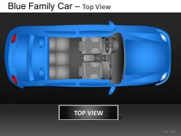 Blue Family Car Top View Powerpoint Presentation Slides DB