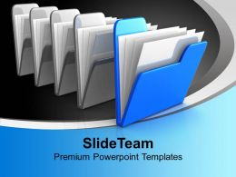 Blue Folder Computer PowerPoint Templates PPT Themes And Graphics 0113