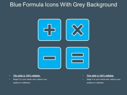 Blue Formula Icons With Grey Background