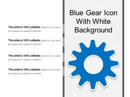 Blue Gear Icon With White Background