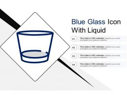Blue Glass Icon With Liquid