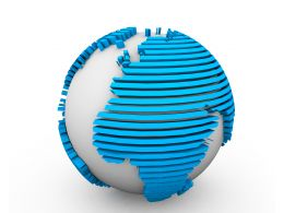 Blue Globe On White Background Graphic Stock Photo