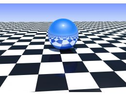 Blue Glossy Sphere On A Chess Board Stock Photo