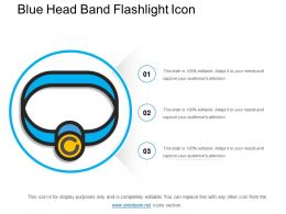 Blue Head Band Flashlight Icon