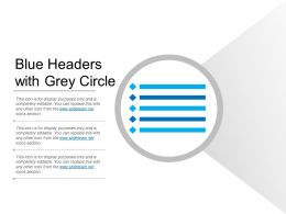 Blue Headers With Grey Circle