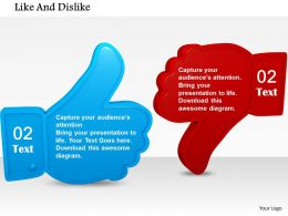 Blue Like And Red Dislike Symbols For Social Media