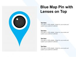 Blue Map Pin With Lenses On Top