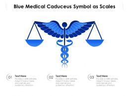 Blue Medical Caduceus Symbol As Scales