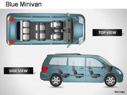 blue_minivan_side_view_powerpoint_presentation_slides_Slide01