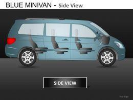 Blue Minivan Side View Powerpoint Presentation Slides DB