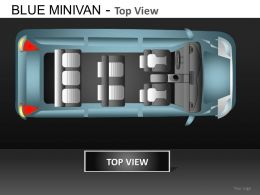 Blue Minivan Top View Powerpoint Presentation Slides DB