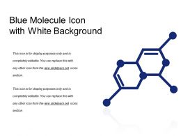 Blue Molecule Icon With White Background