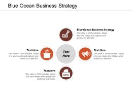 Blue Ocean Business Strategy Ppt Powerpoint Presentation Infographic Template Icon Cpb